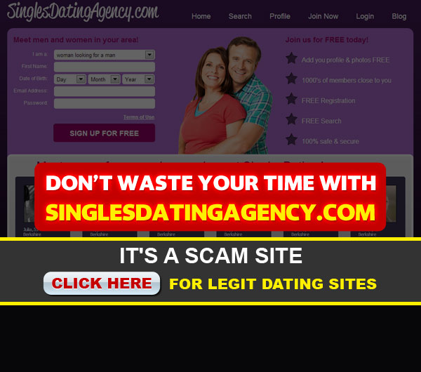 singlesdatingagency screen shot homepage